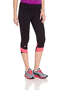 Under Armour Fly By Corsaire de compression Femme Black/Neo Pulse/Reflective FR : L (Taille Fabricant : LG)