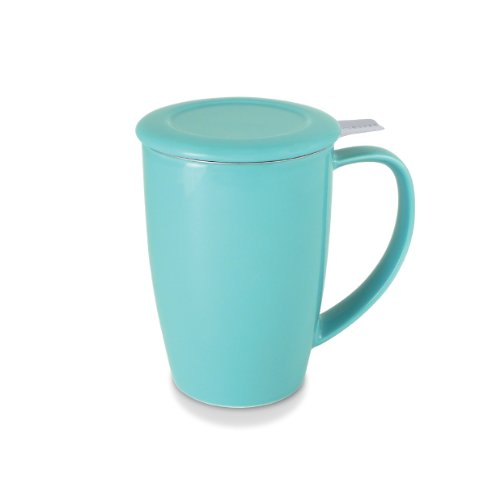 Learn More About FORLIFE Tall 15-Ounce Tea Mug with Infuser and Lid and Lid, Turquoise