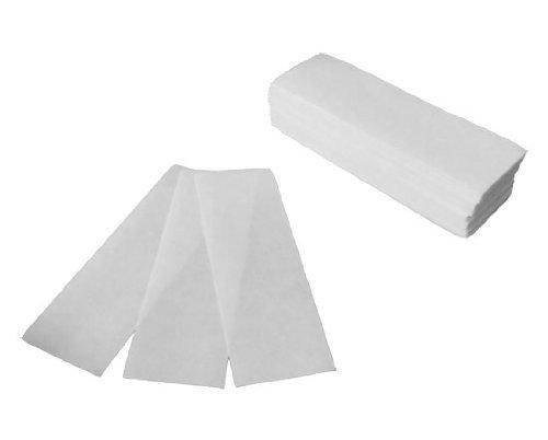 100 Hair Removal Depilatory Wax Strip Nonwoven Epilator Paper Waxing Salon Spa