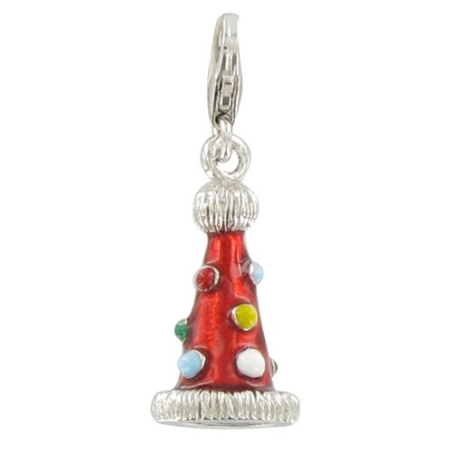 Les Poulettes Jewels - Charms Sterling Silver Wizard Hat for Carnival- with Lobster Clasp
