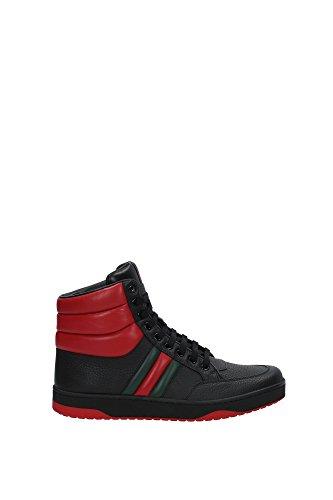 Sneakers Gucci Uomo Pelle Nero, Rosso e Verde 368494DEF301074 Nero 40EU