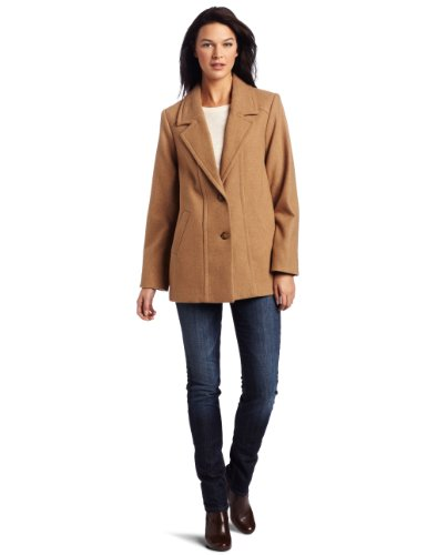 Pendleton Women's Thames Walking Coat, Camel Mix Melton, Large