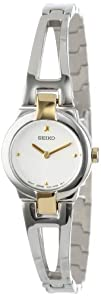Seiko Womens SUJ704 Dress Two-Tone Bangle Watch