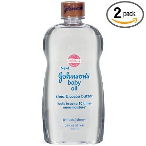Johnson & Johnson Baby Oil 20 oz. , with Shea & Butter (Pack of 6)