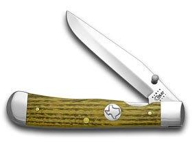 CASE XX Bois D'Arc Texas Inlay Shield Trapperlock 1/300 Pocket Knife Knives