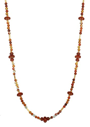 Lanterns by Moonlight Carnelian Beaded Endless Necklace 38