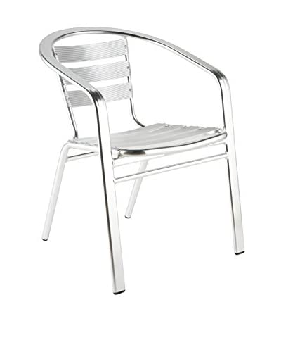 Euro Style Sadie Arm Chair, Aluminum