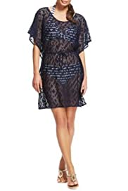 M&S Collection Crochet Cover-Up Belted Kaftan [T52-3316-S]