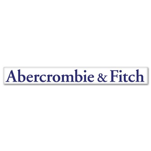 "Amazon.com: Abercrombie and Fitch Logo Blue Large Sticker Decal 12"" X"