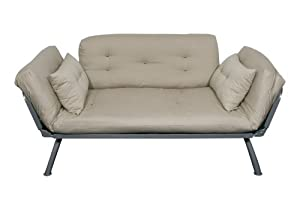 American Furniture Alliance Mali Flex Futon Frame and Cushions, Khaki