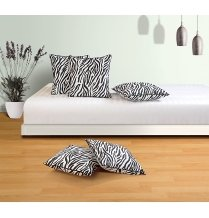 Swayam Drape And Dream Cotton 5 Piece Cushion Cover Set - Black And White (CC165-2802)