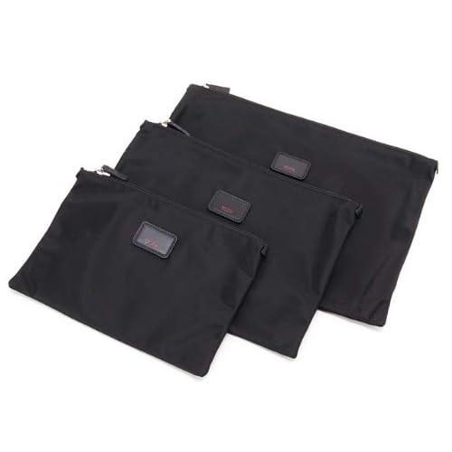 (トゥミ)TUMI 014830D Travel Packs Flat Pouch Set - 3 Pc/フラットポーチセット 3pc Black/ブラック [並行輸入品]
