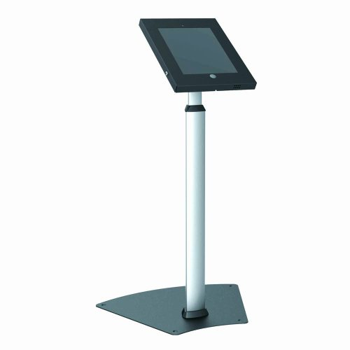 Pyle Pspadlk55 Tamper-Proof Anti-Theft Ipad Kiosk Safe Security Public Floor Stand, Holder, Public Display Case With Adjustable Height & Cable Management For Ipads 2/3/4