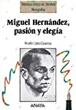 img - for Miguel Hernandez, pasion y elegia / Miguel Hernandez, passion and elegy (Spanish Edition) book / textbook / text book
