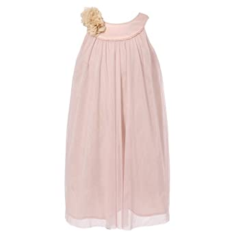 Richie House Big Girls' Dress with Flower Decorated Details Rh0551
