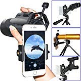 Universal Cell Phone Adapter Mount Support for Eyepiece Diameter 25-48mm - Compatible with Binocular Monocular Spotting Scope Telescope and Microscope