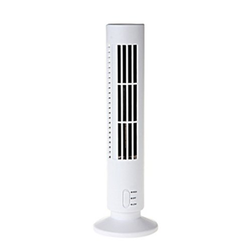 BestOfferBuy Ventilador Torre Vertical Escritorio USB Ordenador Port�til Blanco