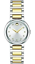 "Movado Women's 0606790 ""Concerto"" Two-Tone Stainless Steel Diamond-Accented Watch"