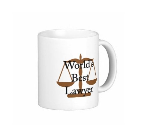 Pair Of World'S Best Lawyer 15 Ounce Coffee Mugs - Custom Coffee / Tea Cups - Dishwasher And Microwave Safe