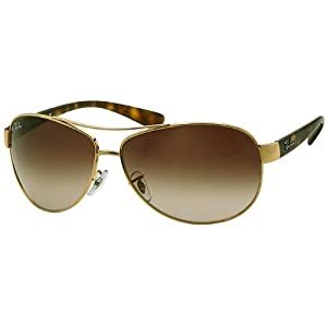 Ray-Ban Sunglasses - RB3386 / Frame: Gold Lens: Brown Gradient (67mm)