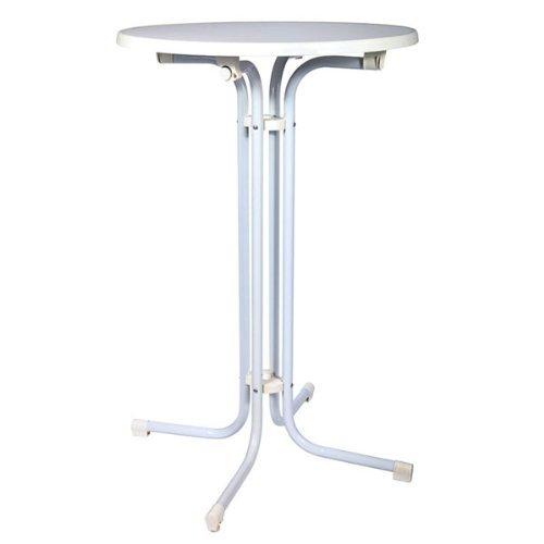 STEHTISCH-BELLINI--70-klappbarer-Bistro-Tisch-110-hoch-wei-verstellbarer-Fu-zum-Ausgleich-von-Unebenheiten