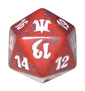 MTG Spindown D20 Life Counter - Innistrad Red