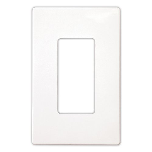 Eaton PJS26W Decorator Screwless Wallplate, 1-Gang, White