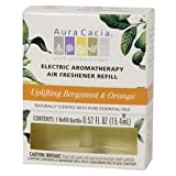 Aura Cacia Air Freshener Refill, Electric, Aromatherapy, Uplifting Bergamot & Orange by Aura Cacia