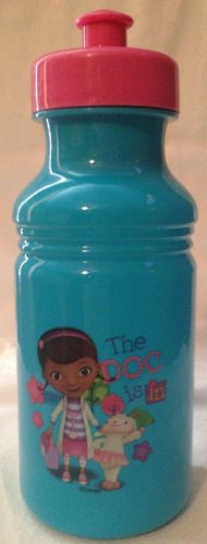 Disney Doc Mcstuffins Zak Drinking Pull Top Water Bottle 17 Ounce