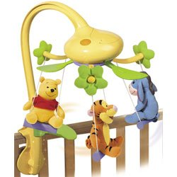 Tomy 71164 Winnie the Pooh and Friends Musical Swing Time Baby Cot Mobile