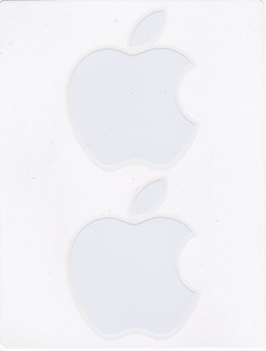 Apple White Mac Logo Decals (Mac Apple Decal compare prices)