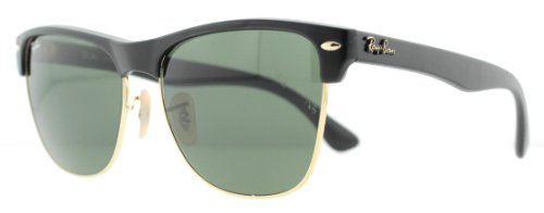 Ray-Ban 0RB4175 0RB4175 Square Sunglasses,Demi Shiny Black Frame/Green Lens,57 mm
