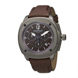 Romanson Men's AL3213HM1DAB7Y Active Titanium Chronograph Analog Display Swiss Quartz Brown Watch