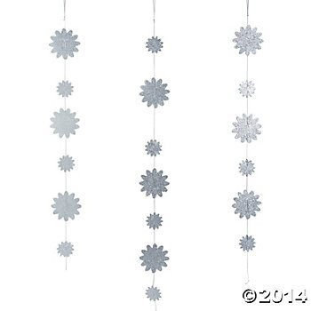 Paper Glittered Hanging Decorations - 1