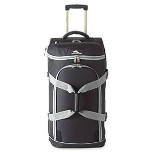 Buy High Sierra AT Prime 32 Drop Bottom Wheeled Duffle Bag - Black with Ash Trim by High Sierra
