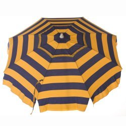6ft Cabana Striped Beach Umbrella with Tilt & Vent