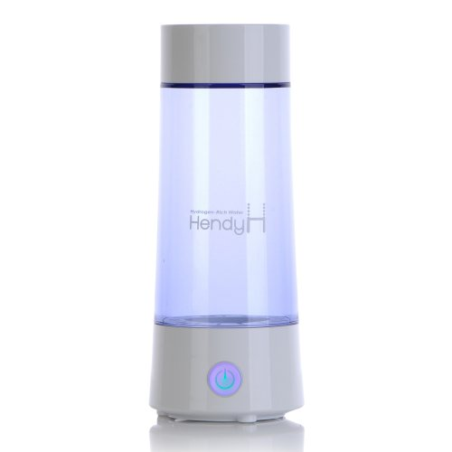 Portable Hydrogen-Rich Water Ionizer - Hendy By Nci : 2 Platinum Titanium Plates, 4 Mineral Cartridges, Usb Chargeable.