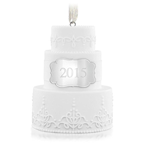 Hallmark QHX1167 Wedding Cake Dated 2015 Keepsake Ornament