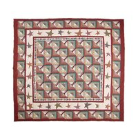 """Woodland Star And Geese Quilt Luxury King 120"""" x 106"""" QLKWDSG by Patch Magic"""