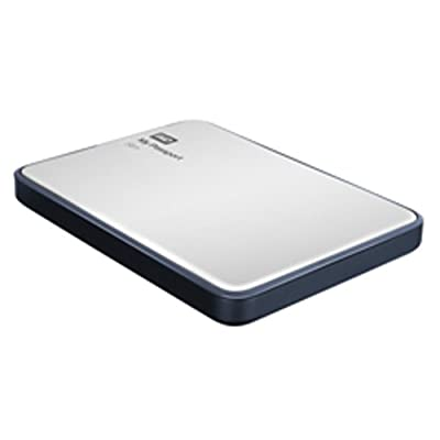 WD My Passport Slim 2TB Portable External Hard Drive (Metal Silver)