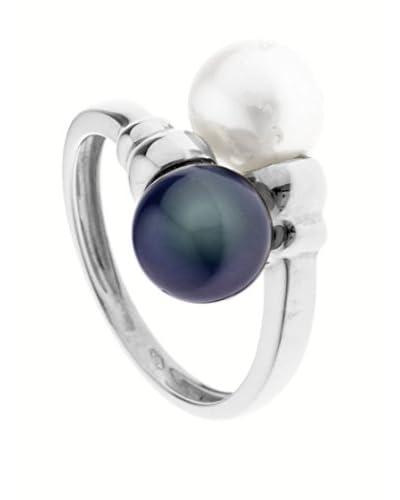 Manufacture Royale des Perles du Pacifique Anello Toi & Moi Prestige [Nero/Bianco]