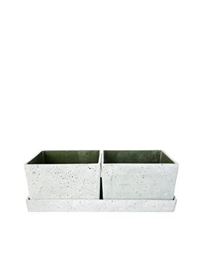 Lene Bjerre Sabina 3-Piece Green Flower Pot Set