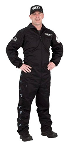 Aeromax Costumes Mens Swat Black Theme Party Fancy Cop Dress