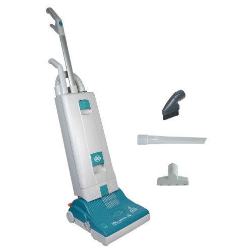 Sebo 9591At Essential G1 Upright Vacuum With 12-Inch Power Head, Light Gray And Teal