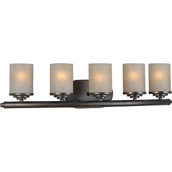 forte 5105 05 32 five light bath bracket antique bronze. Black Bedroom Furniture Sets. Home Design Ideas