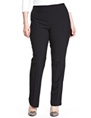 Plus Side Zip Slim Leg Trousers