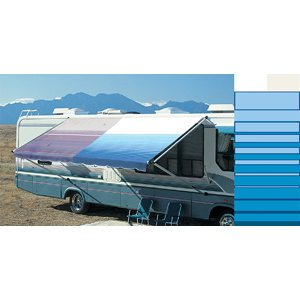 RV Vinyl Awning Fabric Motorhome & Trailer Replacement Canopy Fabric- 17' Ocean Blue