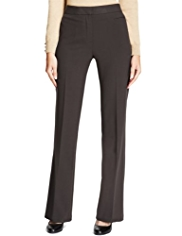 M&S Collection Flat Front Bootleg Trousers