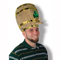 Plush Shamrock Beer Barrel Hat Party Accessory (1 count) (1/Pkg)