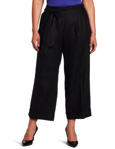 Jones New York Women's Wide Leg Pleated Capri Pant